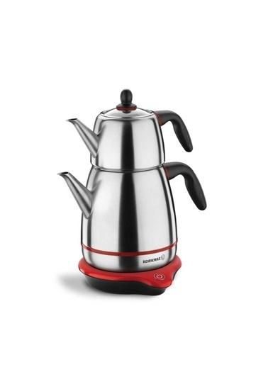 Korkmaz Gusto Inox/Siyah Elektrikli Çaydanlık Gri
